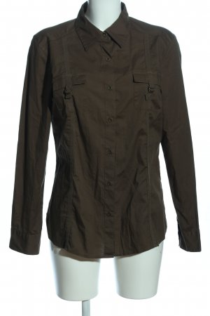 Anne L. Blouse-chemisier brun style d'affaires