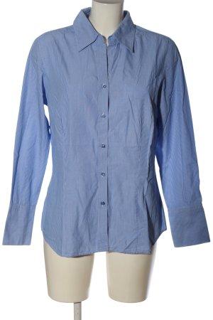 Anne L. Koszulowa bluzka niebieski-biały Wzór w paski W stylu biznesowym