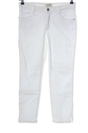 Anne L. Jeansy biodrówki biały W stylu casual