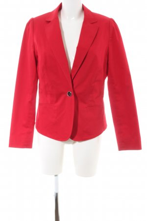 Anne L. Short Blazer red business style