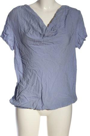 Anne L. Kurzarm-Bluse blau Casual-Look