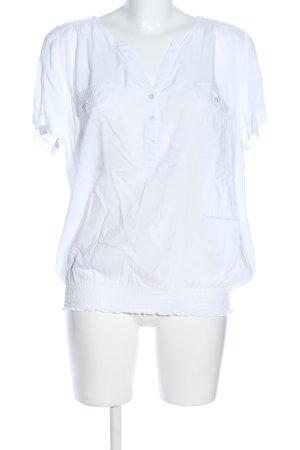 Anne L. Blouse à manches courtes blanc style d'affaires