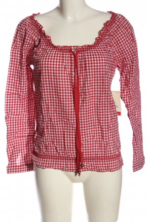 Anne L. Traditional Blouse red-white allover print casual look