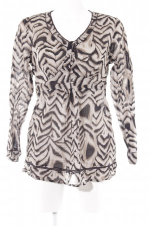Anne L. Long Sleeve Blouse camel-black animal pattern casual look