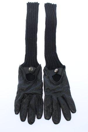 Anne L. Rękawiczki skórzane czarny W stylu casual
