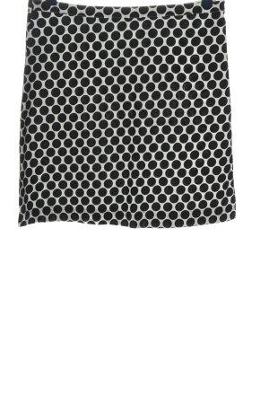 Anne L. Spódnica mini biały-czarny Wzór w kropki W stylu casual