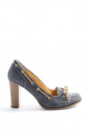 Anne L. Mocassins blauw casual uitstraling