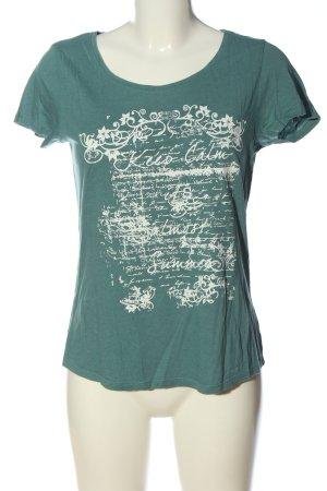 Anne L. Shirt met print groen-wit prints met een thema casual uitstraling
