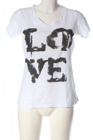 Anne L. Koszulka z nadrukiem biały-czarny Wydrukowane logo W stylu casual