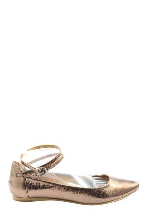 Anne L. Ballerina's met bandjes brons casual uitstraling