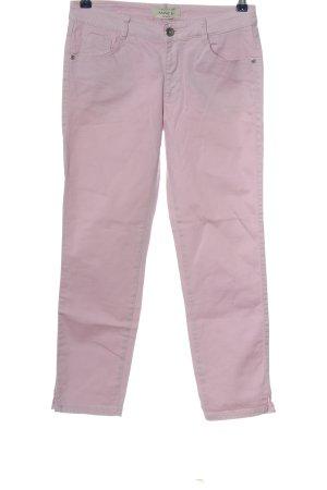 Anne L. Spodnie rurki różowy W stylu casual