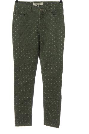 Anne L. Tube jeans khaki-lichtgrijs volledige print casual uitstraling
