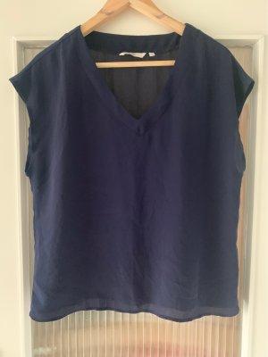 Anne L. T-shirt ciemnoniebieski