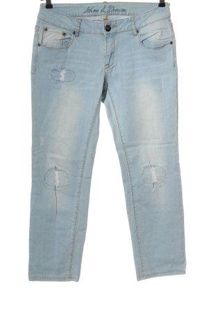 Anne L. Jeans a gamba dritta blu stile casual