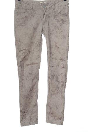 Anne L. Jeans a gamba dritta grigio chiaro-marrone motivo animale stile casual