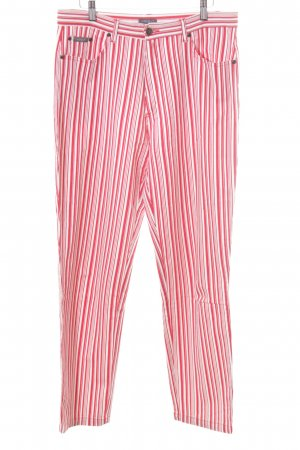 Anne L. Straight Leg Jeans red-white striped pattern casual look