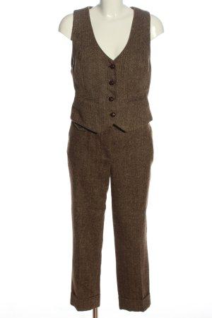 Anne L. Tailleur-pantalon bronze moucheté style décontracté