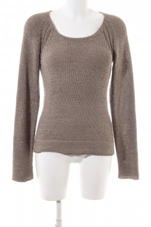 Anne L. Knitted Sweater bronze-colored flecked casual look