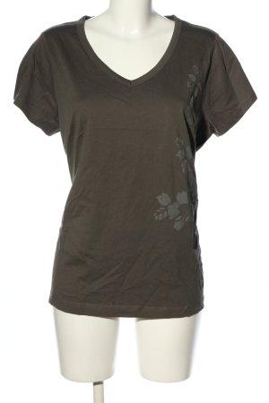 Anne L. T-shirt cachi motivo astratto stile casual