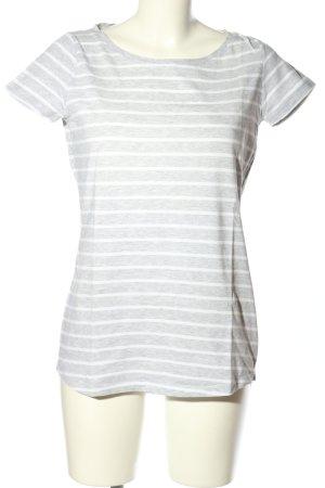 Anne L. T-shirt jasnoszary-biały Na całej powierzchni W stylu casual