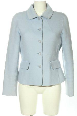 Anne L. Wełniany sweter błękitny W stylu biznesowym