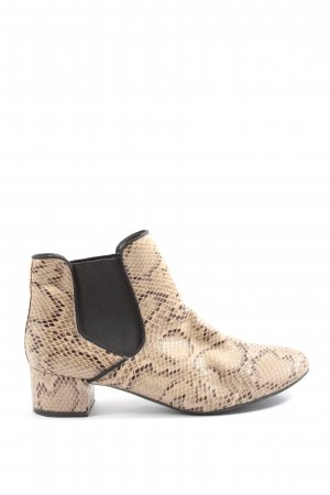 Anne Michelle Slip-on Booties natural white-black allover print casual look