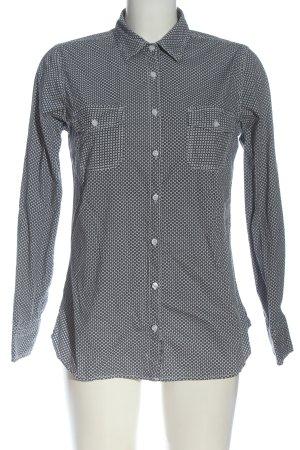 annel Chemise à manches longues noir-blanc imprimé allover style décontracté