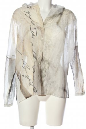 Annette Görtz Long Sleeve Shirt natural white-brown printed lettering