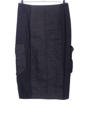 Annette Görtz Midi-rok zwart-lichtgrijs gestippeld casual uitstraling