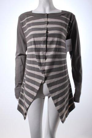 Annette Görtz Cardigan light grey-grey striped pattern casual look