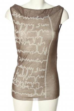 Annette Görtz Knitted Top bronze-colored-white themed print casual look