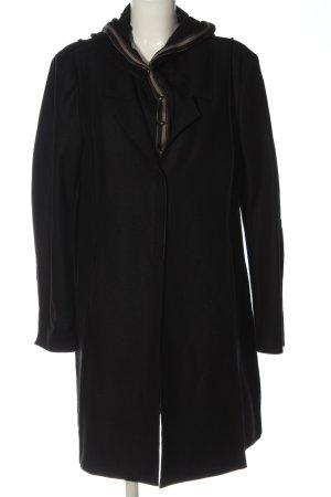 Annette Görtz Wollen jas zwart casual uitstraling