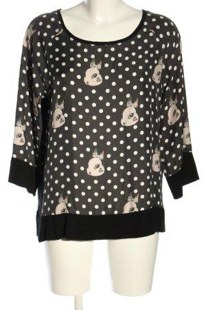 Anni Carlsson Jedwabna bluzka Nadruk z motywem W stylu casual