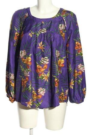 Anni Carlsson Zijden blouse bloemenprint casual uitstraling