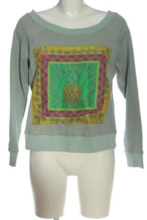 Anni Carlsson Sweat Shirt themed print casual look