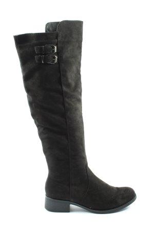 Annie G. Wysokie buty na obcasie czarny W stylu casual