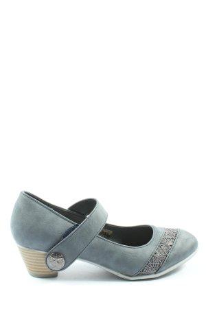 Annie G. Escarpins Mary Jane bleu style décontracté