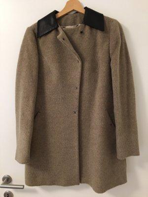 Annie P Manteau en laine gris brun