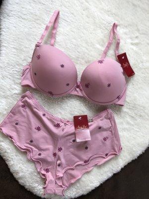 AnnJoy Soft BH-Set mit Slip Bügel BH in rosa neu M 75C