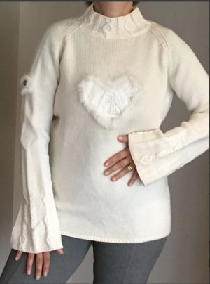 anno domini Knitted Sweater natural white wool