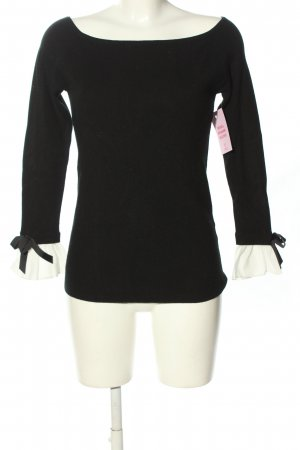 Anny fashion Crewneck Sweater black casual look