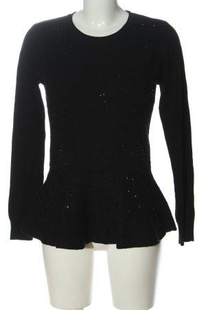 Anny fashion Crewneck Sweater black-silver-colored casual look