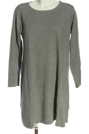 Anny Robe en maille tricotées gris clair moucheté style décontracté