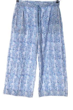 Anokhi Kuloty niebieski-biały Abstrakcyjny wzór W stylu casual