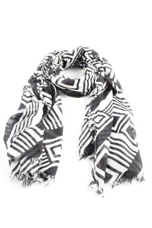Anokhi Foulard blanc-noir imprimé allover style décontracté