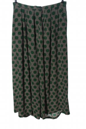 ANONYME Baggy broek abstract patroon casual uitstraling