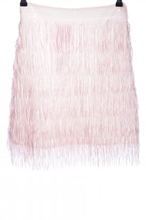 Anonyme Designers Fringed Skirt pink wet-look