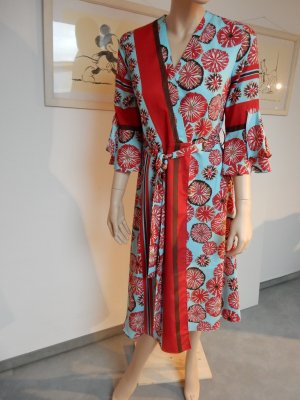 Anonyme Designers, knielanges Kleid, 70-is print G. 38