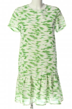 Anonyme Designers Shortsleeve Dress green-natural white abstract pattern
