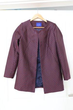 Anonyme Designers Long Blazer dark blue-red polyester